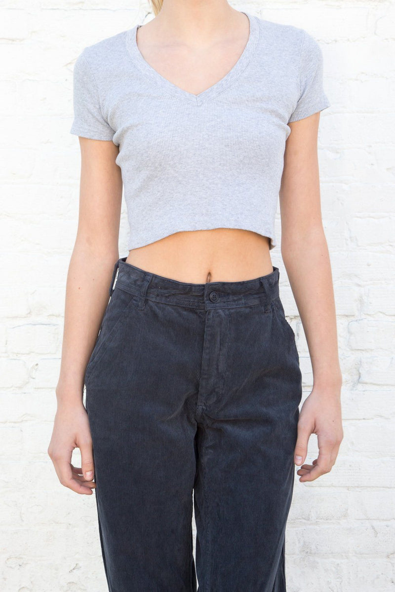 Heather Grey / Cropped Fit