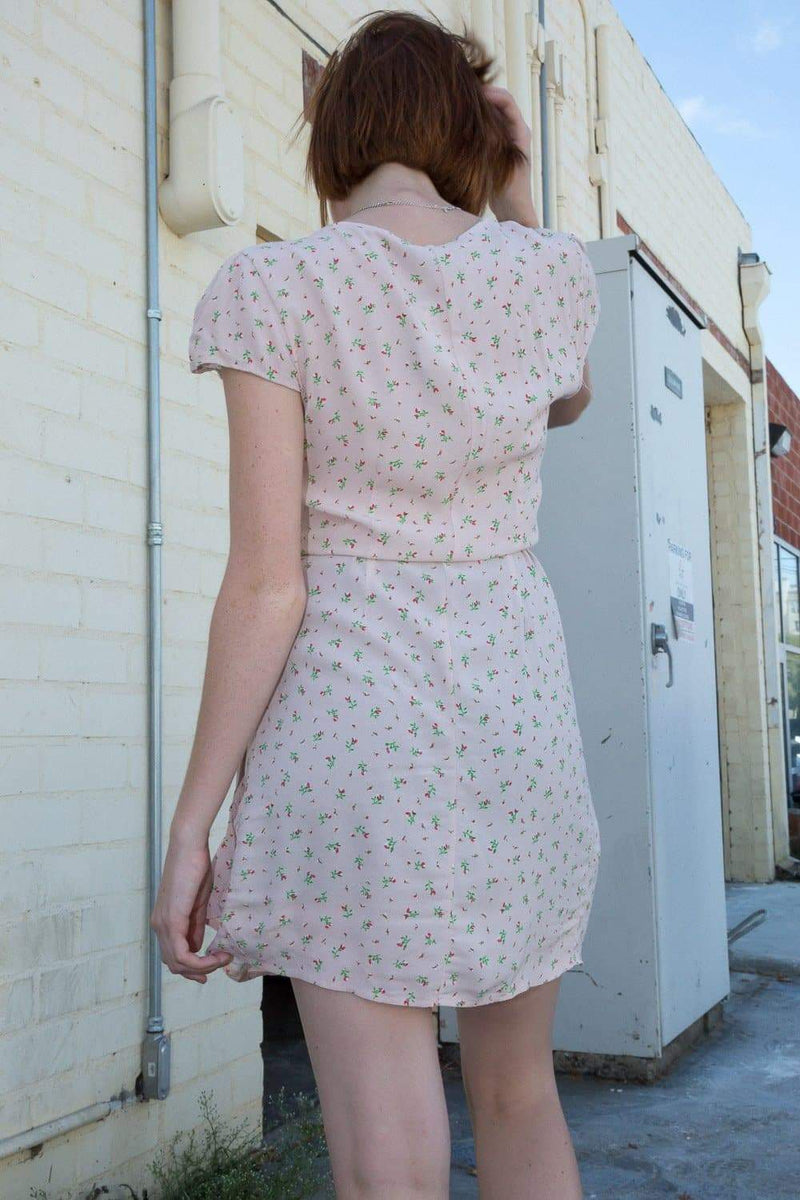 Light Pink with Floral Print / S