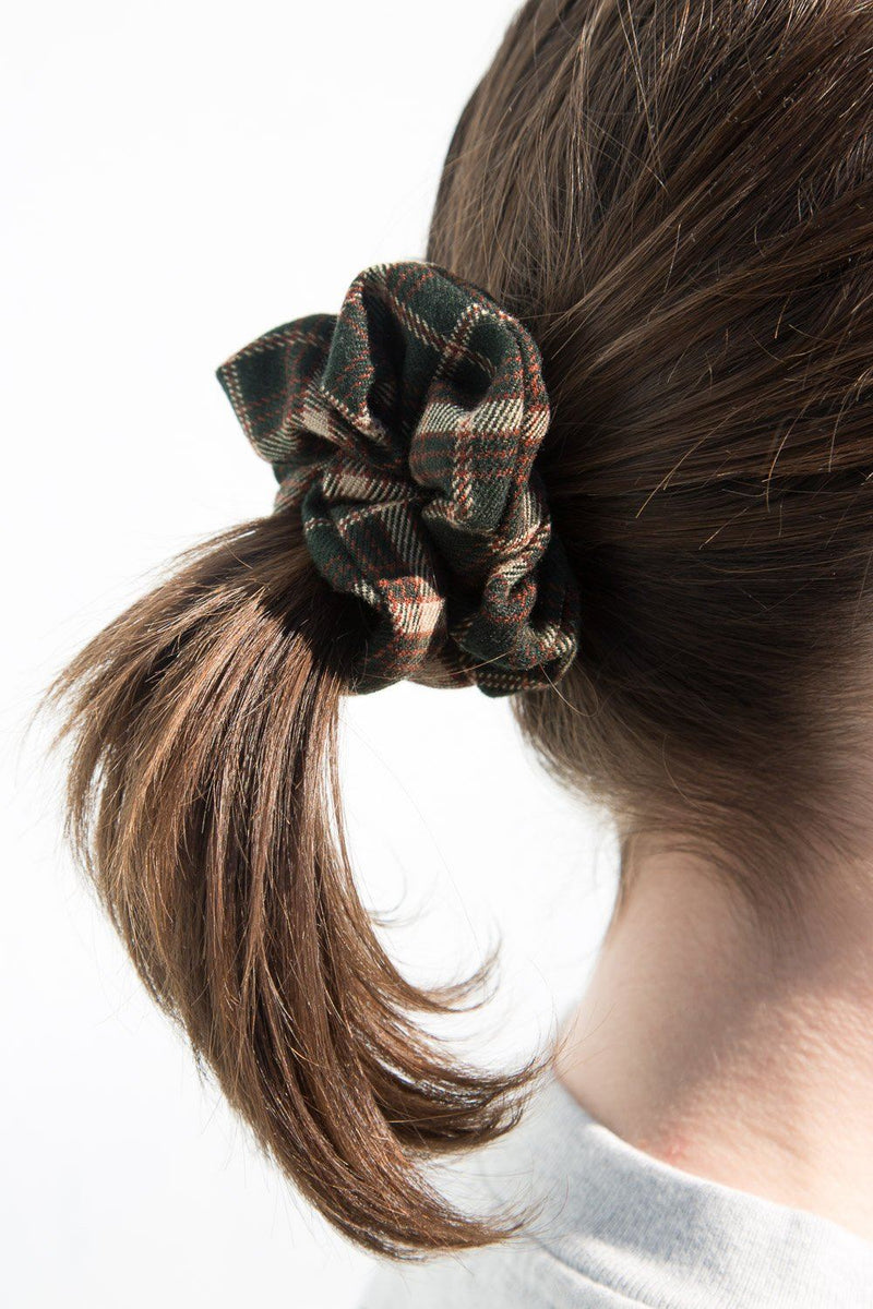 Dark Green with Brown and Beige Plaid