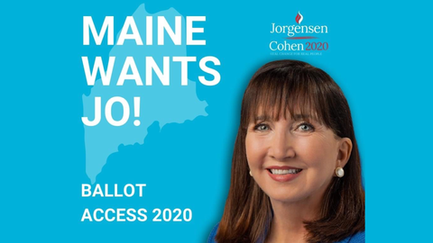 Libertarian Jorgensen on ballot in Maine - Ranked Choice Voting
