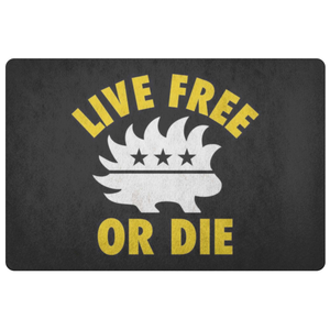 Live Free or Die Doormat - Libertarian Candidates News and Merchandise