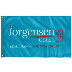 Jorgensen Cohen 2020 Wall Flag With Grommets - Libertarian Candidates News and Merchandise
