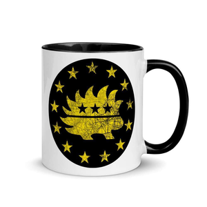 Libertarian Porcupine Betsy Ross Flag 13 Stars Yellow Mug with Color Inside - Libertarian Candidates News and Merchandise