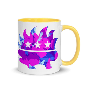 Hawaiian Luau Libertarian Porcupine Mug with Color Inside - Libertarian Candidates News and Merchandise