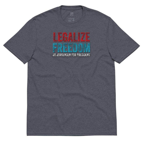 Legalize Freedom Jo Jorgensen for President Unisex recycled t-shirt - Libertarian Candidates News and Merchandise