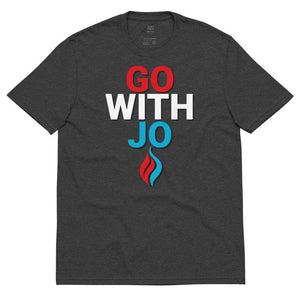 Go With Jo Flame Logo Unisex recycled t-shirt - Libertarian Candidates