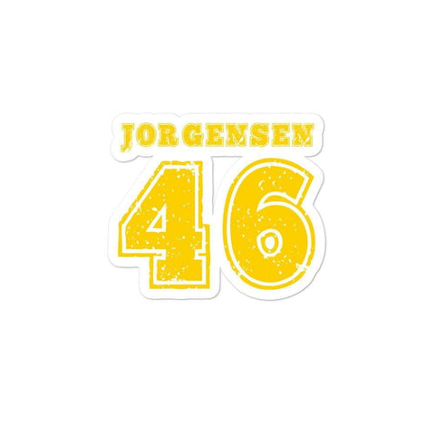 Jorgensen 46 Jersey Design Bubble-free stickers - Libertarian Candidates News and Merchandise