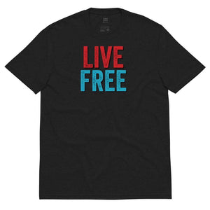 Live Free Libertarian Unisex recycled t-shirt - Libertarian Candidates