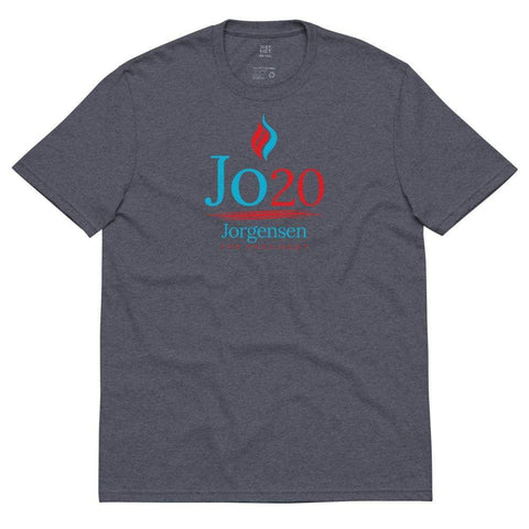 Jo Jorgensen For President Jo 20 Flame Logo Unisex recycled t-shirt - Libertarian Candidates News and Merchandise
