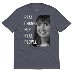 Real Change For Real People Unisex recycled t-shirt - Libertarian Candidates News and Merchandise