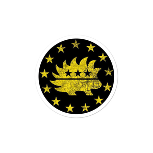 Libertarian Porcupine Betsy Ross Flag 13 Stars Yellow Bubble-free stickers - Libertarian Candidates News and Merchandise