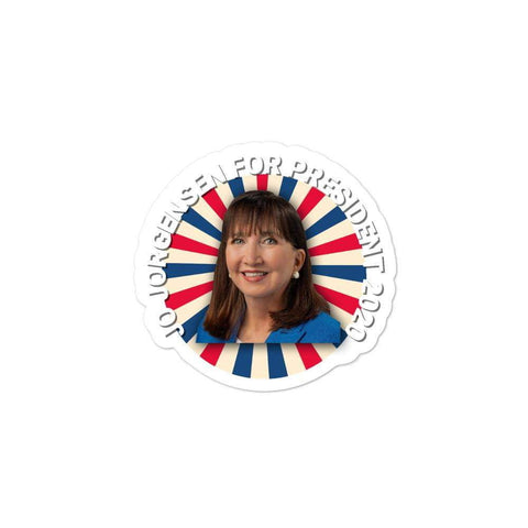 Vintage Jo Jorgensen For President 2020 Style Bubble-free stickers - Libertarian Candidates News and Merchandise