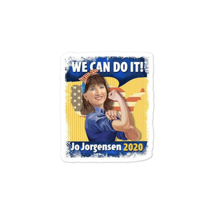 We Can Do It Jo Jorgensen 2020 Bubble-free stickers - Libertarian Candidates News and Merchandise