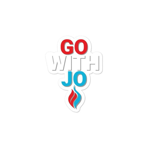 Go With Jo Flame Logo Bubble-free stickers - Libertarian Candidates News and Merchandise