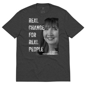 Real Change For Real People Unisex recycled t-shirt - Libertarian Candidates