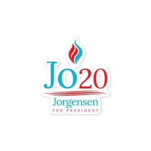 Jo Jorgensen For President Jo 20 Flame Logo Bubble-free stickers - Libertarian Candidates News and Merchandise