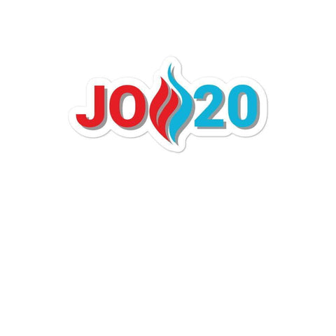 Jo 20 Flame Logo Jo Jorgensen 2020 Bubble-free stickers - Libertarian Candidates News and Merchandise