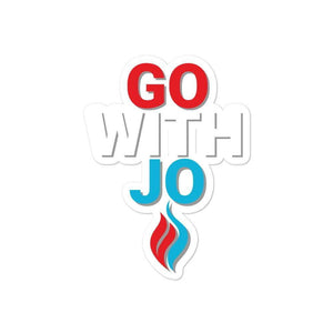 Go With Jo Flame Logo Bubble-free stickers - Libertarian Candidates