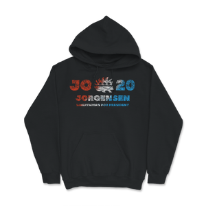 Jo Jorgensen Libertarian For President Porcupine Jo 20 Red Hoodie - Libertarian Candidates News and Merchandise