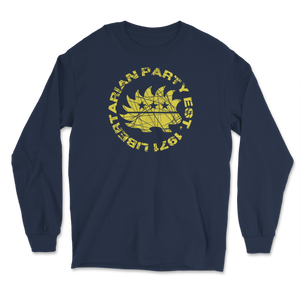 Distressed Gold Libertarian Party Est 1971 Long Sleeve T-Shirt - Libertarian Candidates News and Merchandise