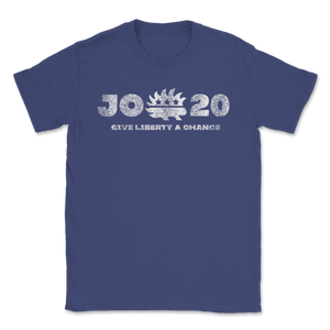 Give Liberty A Chance Jo Jorgensen For President Unisex T-Shirt - Libertarian Candidates News and Merchandise