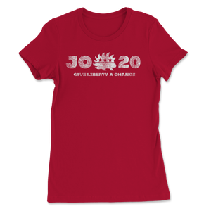 Give Liberty A Chance Jo Jorgensen For President Women's Tee - Libertarian Candidates News and Merchandise
