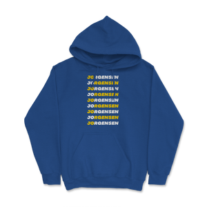 Jo Jorgensen Repeating Design White and Yellow Hoodie - Libertarian Candidates News and Merchandise