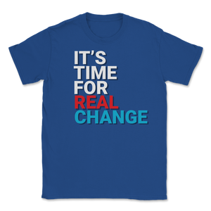 It's Time For Real Change Jo Jorgensen 2020 Unisex T-Shirt - Libertarian Candidates News and Merchandise
