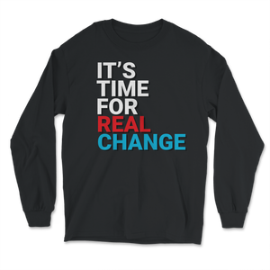 It's Time For Real Change Jo Jorgensen 2020 Long Sleeve T-Shirt - Libertarian Candidates News and Merchandise