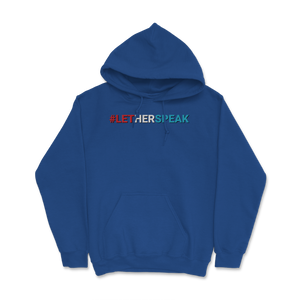 #LetHerSpeak Jo Jorgensen Libertarian for President Red/White/ Hoodie - Libertarian Candidates News and Merchandise