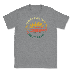 Distressed Retro Libertarian Party Est 1971 Unisex T-Shirt - Libertarian Candidates News and Merchandise