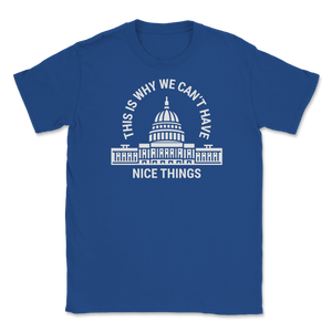 This is Why We Can't Have Nice Things Unisex T-Shirt - Libertarian Candidates News and Merchandise