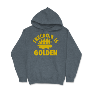 Freedom Is Golden Libertarian Porcupine Hoodie - Libertarian Candidates News and Merchandise