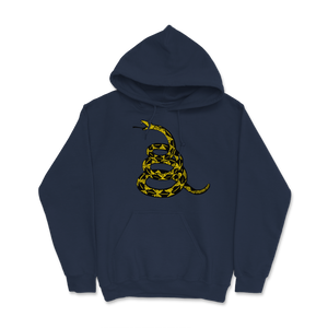 Gadsden Flag Snake Black and Yellow Libertarian Hoodie - Libertarian Candidates News and Merchandise