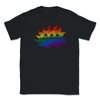 Distressed Style Libertarian Rainbow Porcupine LGBTQ Unisex T-Shirt - Libertarian Candidates News and Merchandise