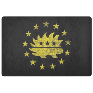 Betsy Ross Flag 13 Stars Libertarian Porcupine Doormat - Libertarian Candidates News and Merchandise