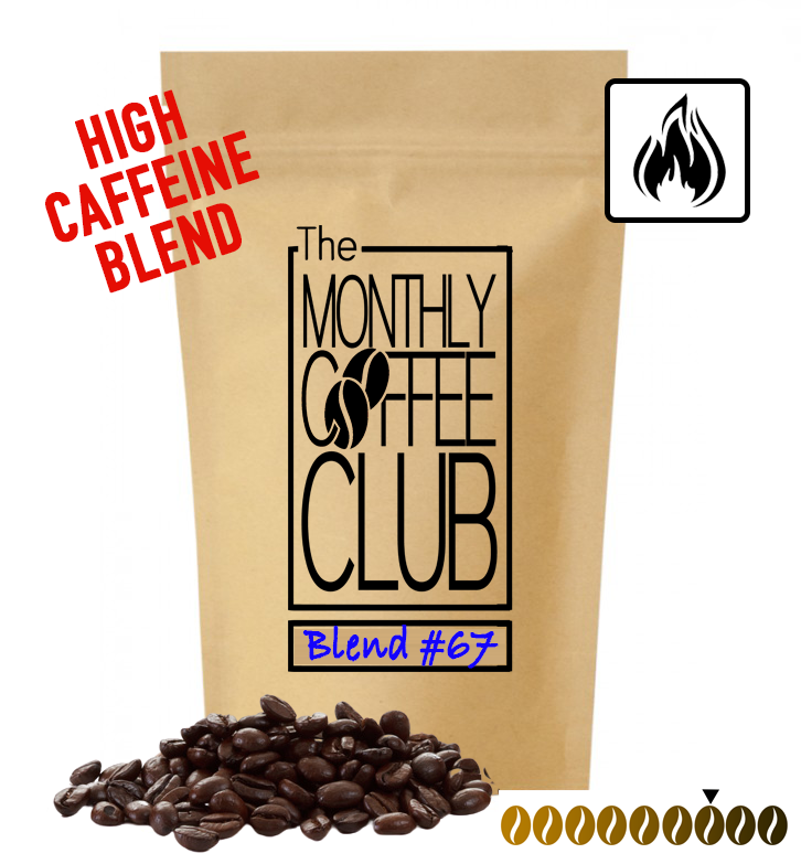 BLEND #67 MEDIUM/DARK ROAST (HIGH CAFFIENE) (WHOLEBEAN)