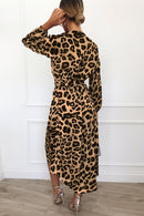 Vestido Wrap Estampa de Animal
