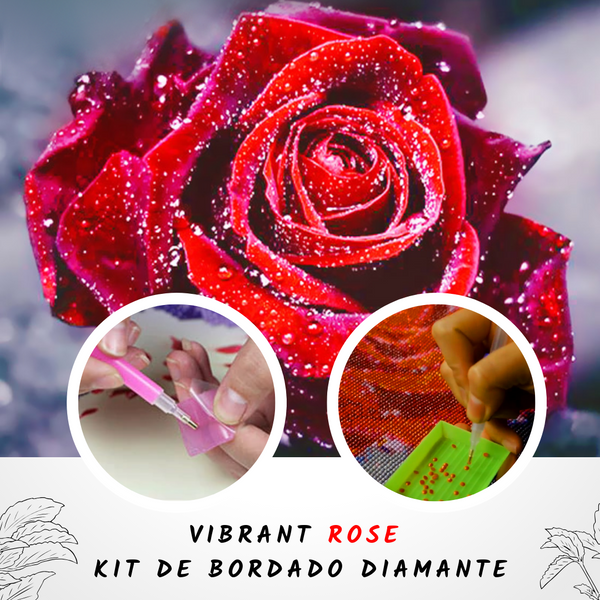 Vibrant Rose - Kit de Bordado Diamante