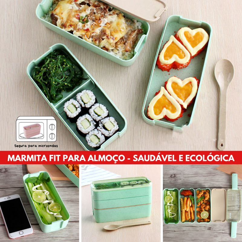 On-the-Go - Marmita Fit - 3 Camadas