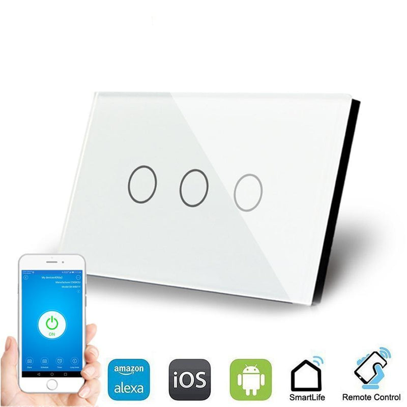 Smart Interruptor Wifi Touch Screen Wallpad 3 Teclas