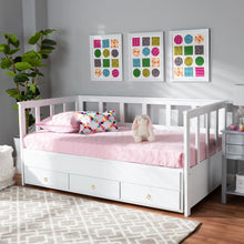 Load image into Gallery viewer, BAXTON STUDIO KENDRA MODERN AND CONTEMPORARY WHITE FINISHED EXPANDABLE TWIN SIZE TO KING SIZE DAYBED WITH STORAGE DRAWERS - Exquisite Home Furnishings Powered by IEE Brothers LLC