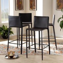 Load image into Gallery viewer, MALCOM MODERN AND CONTEMPORARY BROWN FAUX LEATHER UPHOLSTERED 4-PIECE BAR STOOL - Exquisite Home Furnishings Powered by IEE Brothers LLC