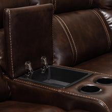 Load image into Gallery viewer, BAXTON STUDIO DACIO MODERN AND CONTEMPORARY BROWN FAUX LEATHER UPHOLSTERED 6-PIECE SECTIONAL RECLINER SOFA WITH 2 RECLINING SEATS - Exquisite Home Furnishings Powered by IEE Brothers LLC