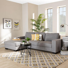 Load image into Gallery viewer, BAXTON STUDIO NEVIN MODERN AND CONTEMPORARY LIGHT GREY FABRIC UPHOLSTERED SECTIONAL SOFA WITH LEFT FACING CHAISE - Exquisite Home Furnishings Powered by IEE Brothers LLC