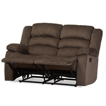 Load image into Gallery viewer, BAXTON STUDIO HOLLACE MODERN AND CONTEMPORARY TAUPE MICROSUEDE 2-SEATER RECLINER - Exquisite Home Furnishings Powered by IEE Brothers LLC
