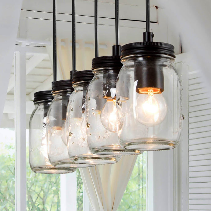 MASON JAR BAR KITCHEN ISLAND CHANDELIER - Exquisite Home Furnishings Powered by IEE Brothers LLC