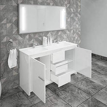 Load image into Gallery viewer, ALESSIO BATHROOM VANITY AND CERAMIC SINK COMBO WITH LED MIRROR - Exquisite Home Furnishings Powered by IEE Brothers LLC