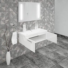 Load image into Gallery viewer, ASPE BATHROOM VANITY AND CERAMIC SINK COMBO WITH LED MIRROR - Exquisite Home Furnishings Powered by IEE Brothers LLC