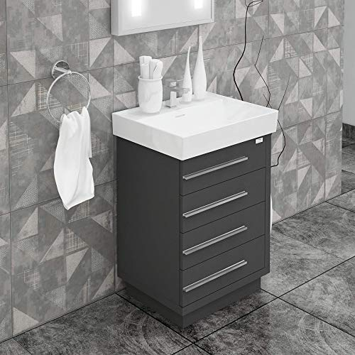 DOMENICO BATHROOM VANITY AND CERAMIC SINK COMBO WITH LED MIRROR - Exquisite Home Furnishings Powered by IEE Brothers LLC
